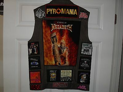 KINGS OF METAL Tribute Vest--BROWN--XL...Slayer,Megadeth,Overkill,Anthrax