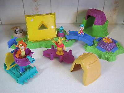Vintage Disney Winnie the Pooh & Friends Lights,  Sounds Popup Camping Playset