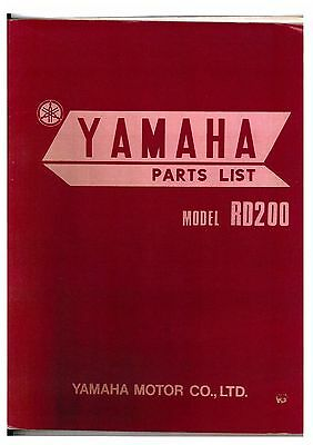 Yamaha Rd200 Motorcycle Spare Parts Manual