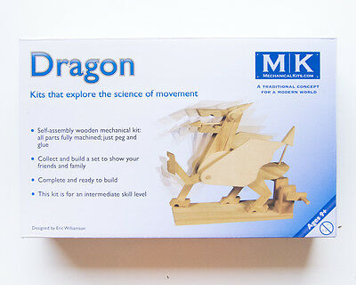 Dragon 3D MK Mechanical Kits Wooden Dragon Animal Puzzle Toy New Sealed Ages 9+