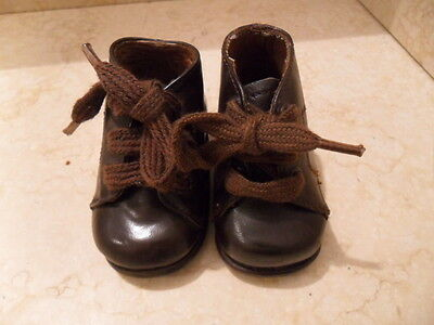 Antique Leather Baby Shoes, Marked 3