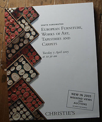 Christie's Furniture, Works Of Art, Tapestries And Carpets - Vintage Catalogue