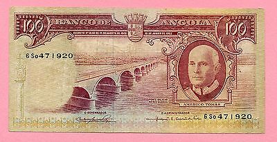 Portugal-Angola 100$00 de 1962 See scan