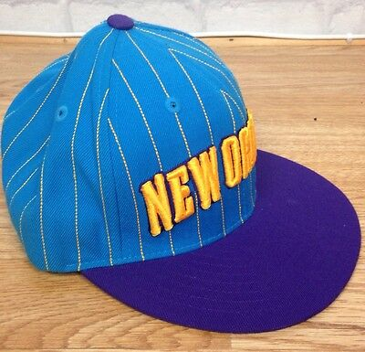 New Orleans Hornets Adidas Nba Vintage Retro Sports Basketball Snapback Cap Hat
