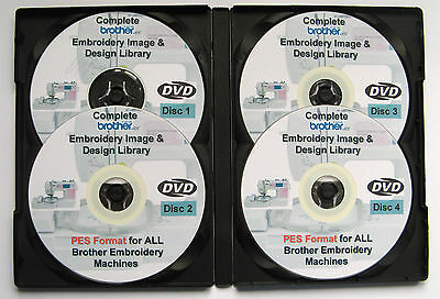 139,877 BROTHER BABYLOCK Maschinen PES Format EMBROIDERY Designs 4 DISC BOX-SET