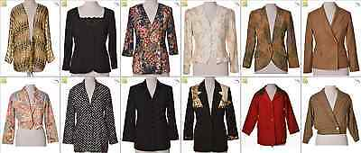 "JOB LOT OF 28 VINTAGE WOMEN""S JACKETS - Mix of Era's, styles and sizes (20912)*"