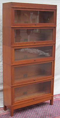 Ultra Choice 5 Section Globe Wernicke Mission Oak Barrister Bookcase-