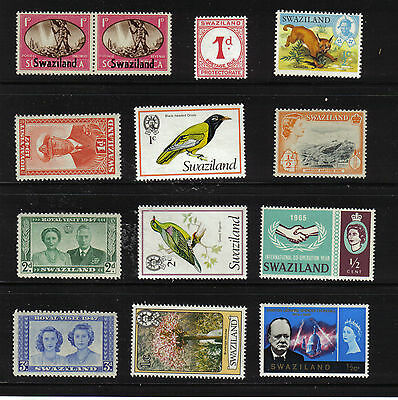 Swaziland Mint Never Hinged Mnh 1933 -1980 Birds Kgv1 Collection Superb Quality