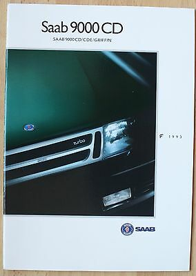 rare Catalogue Saab 9000 CD (CDE GRIFFIN) 1993 France - 38 pages