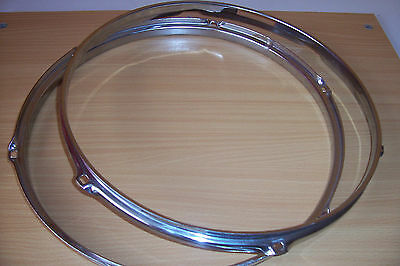14 1/2 Inch Snare,drum  Hoop 6 Lugs Holes Top And Bottom
