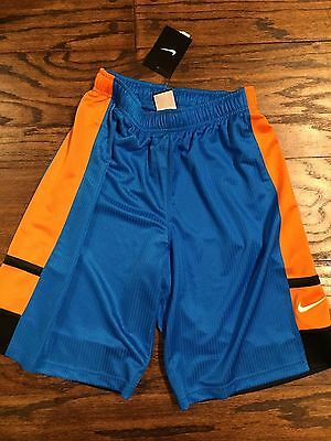 Nike Boys Sz M 10-12 Blue Orange Black Basketball Shorts Nwt New