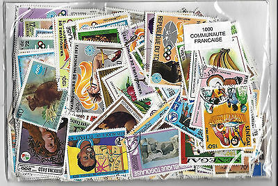 FRANCE COLONY  stamps 1000 Different MOST large stamps  used CTO