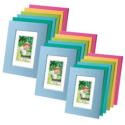 Wooden Picture Holder Photo Family Frame in Blue Turquoise & Green All Sizes