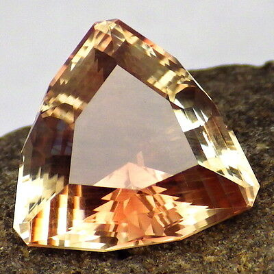 PINK-COPPER SCHILLER OREGON SUNSTONE 6.68Ct FLAWLESS-FOR TOP JEWELRY-BEAUTIFUL!!