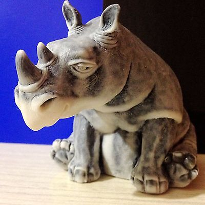Rhino figurine marble chips from Russia for the collection rhinoceros