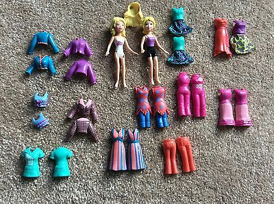 Magnetic Polly Pocket Bundle Lot Of Dolls And Outfits