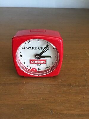 Rare Wake Up To Lipton Tea Mini Alarm Clock