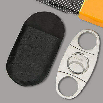 Cohiba 420 Stainless Steel Pocket Cigar Cutter Knife Scissors Double Blades