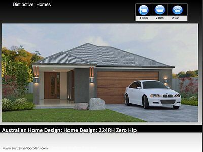 4 Bedroom Narrow Lot | House Plans | Floor plans  | Home Plans  | Hip Roof Zero