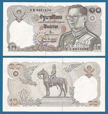 Thailand 10 Baht P 87 Signature 66 UNC ND (1980) Low Shipping! Combine FREE!