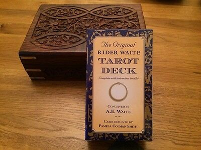 Rider Waite Tarot Cards with Beautful Wooden Box