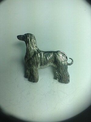 Afghan Hound Dog Pin Made Of Fine Pewter