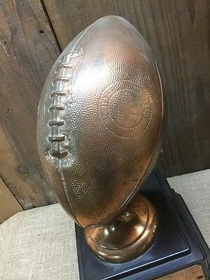 Vintage 1960's Official Bronze Football Trophy