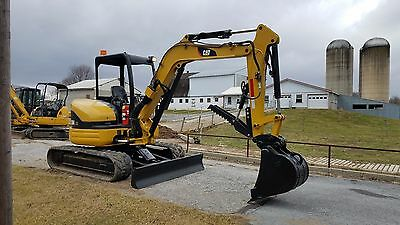 2003 Caterpillar 304 CR Mini Compact Excavator w Hydraulic Thumb Track Hoe Blade