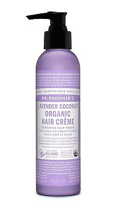 Dr Bronner`s Magic Lavender Coconut Hair Cream For Leave -In Cond & Light Styl