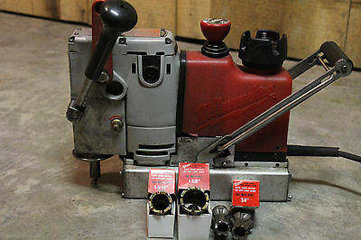 Milwaukee 4245 Heavy Duty Steel Hawg Magnetic Drill With Cutters.