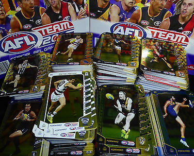 2016 AFL Teamcoach GOLD & SILVER Code Cards Singles Sale - 50c - each U choose