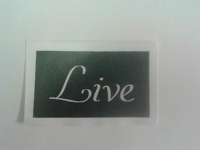 10 x Live word stencil for etching glass craft present etch hobby gift