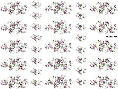 TiNY VioLeTs ShaBby WaTerSLiDe DeCALs