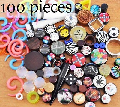 100pc Mixed Plug Tunnel Taper Stretcher. Fast Post. Aus Seller.