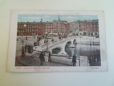 Old Postcard CORK - Patrick Street & Bridge - Postally Unused