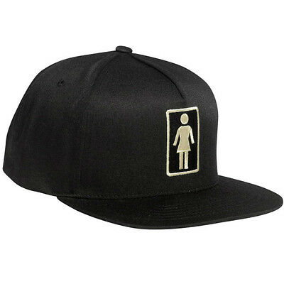 "New GIRL Skateboards ""Everyday OG"" Embroidered 5 Panel Snapback Hat (Black)"