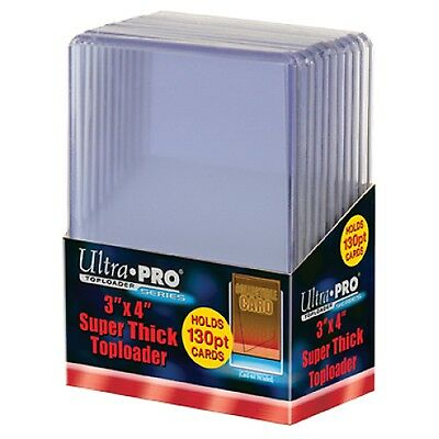"UltraPro Ultra Pro Toploader Trading Card Protector 130pt 3x4"" Pack of 10 NEW"