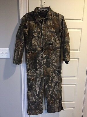 Boys Liberty Realtree Hardwood Camo Green Brown Hunting Winter Coveralls Size 12