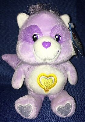 Care Bears Cousins Bright Heart Raccoon 20th Anniversary Beanie Baby Plush Toy