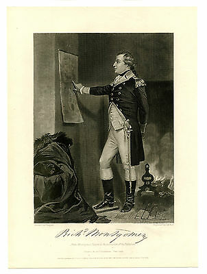 RICHARD MONTGOMERY, Revolutionary War General/Killed KIA Quebec, Original Print