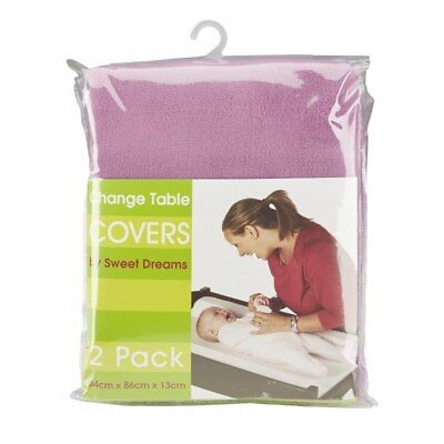 Sweet Dreams - Change Table Cover Mat - 2 Pack - Pink