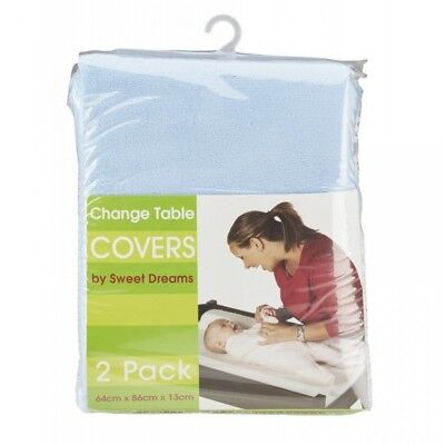 Sweet Dreams - Change Table Cover Mat - 2 Pack - Blue