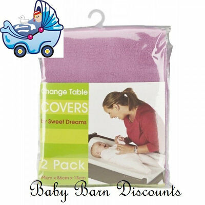 Sweet Dreams - Change Table Cover Mat - 2 Pack - Plum