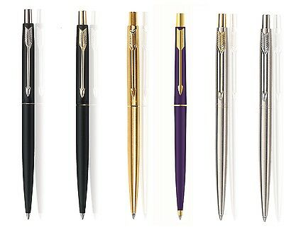 Parker Classic Ball Pen Pens Gold Silver Matte Black Navy Blue Gt Ct Gift Box