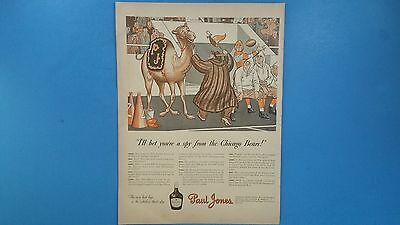 Vintage 1941 Paul Jones Whiskey*I BET YOU ARE A SPY FROM THE BEARS* Print Ad