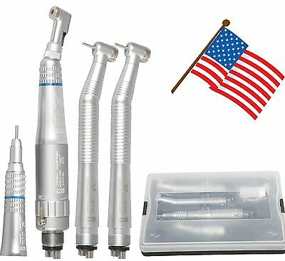 Dental NSK Style Push button High & Low speed handpiece kit 4 holes USA Stock