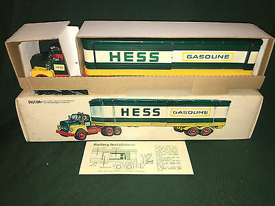 1976 Hess Barrel Truck, with barrels, lights work, rare ,vintage, collectible !!