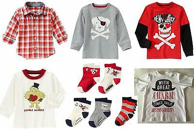 NWT Gymboree Boy's Valentine Tees, Shirts or Socks U-Pick