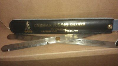 New with leather carrying case Carman Tubing Gauge Model D.C.D. Carman Guage