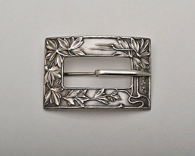 Unger Brothers Sterling Silver Buckle Pin Brooch Art Art Nouveau, Art Deco